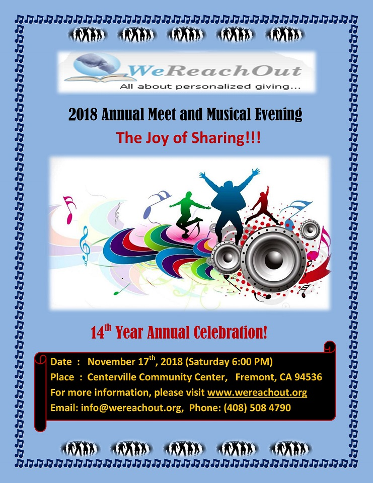 WeReachOut 2018 - Annual Meet Flyer